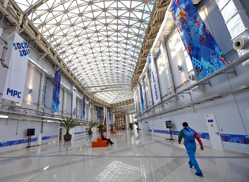 O Centro de Imprensa em Sochi já está pronto para receber os mais de oito mil jornalistas que irão cobrir os Jogs de Inverno