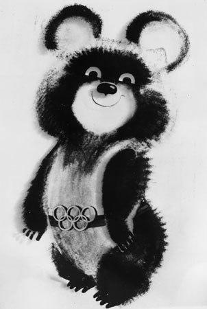 O ursinho Misha, dos Jogos de Moscou, a mais carismática mascote olímpica