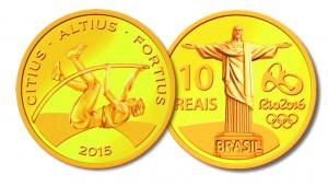 Moedas do Rio 2016 - Salto com vara