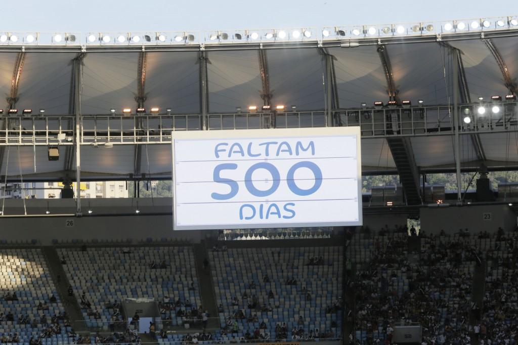 Vídeo dos 500 dias para as Paraolimpíadas foi exibido no telão do Maracanã antes da final do Campeonato Carioca