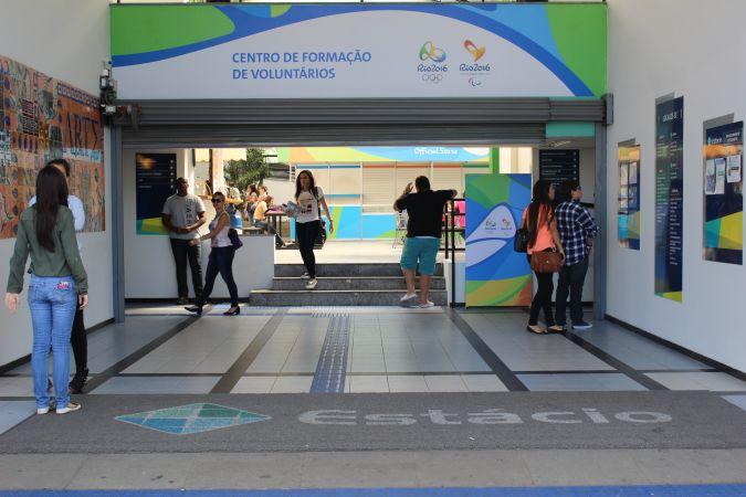 Centro de formação de voluntários para o Rio 2016, já em funcionamento, na Barra (RJ)