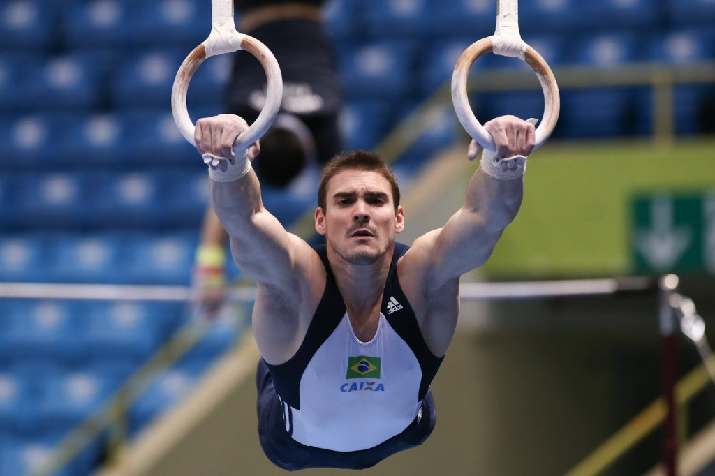 Campeão olímpico em Londres nas argolas, Arthur Zanetti será a principal atração na etapa de São Paulo da Copa do Mundo