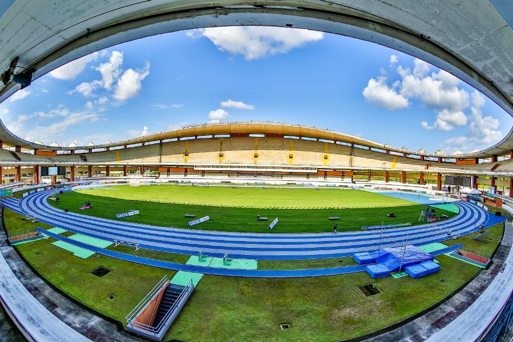 O Estádio Mangueirão, em Belém, não receberá a edição 2015 do Grande Prêmio Brasil de atletismo