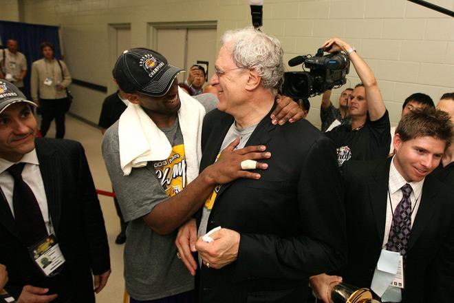 Kobe Bryant e Phil Jackson