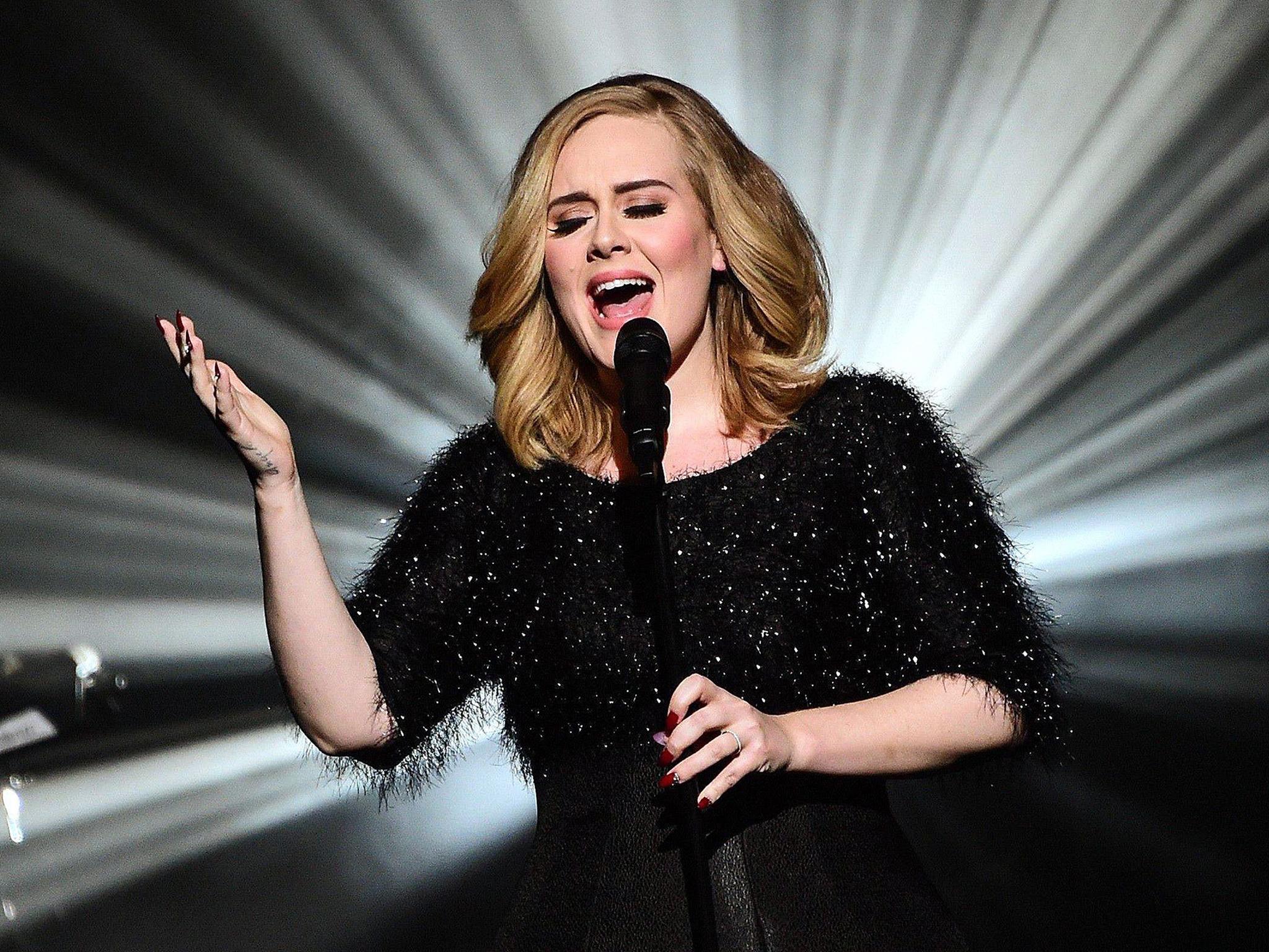 Mandatory Credit: Photo by GHNASSIA/NMA2016/SIPA/REX (5355608er) Adele NRJ Music Awards, Show, Cannes, France - 07 Nov 2015