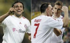 Toni, Ribéry e Klose - O tripé do Bayern