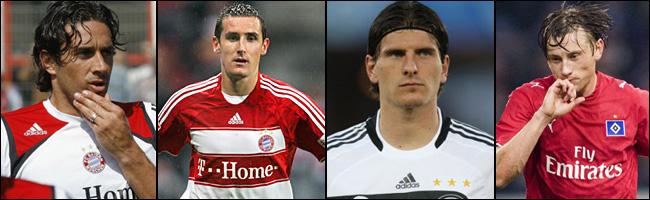 Toni, Klose, Gomez e Olic