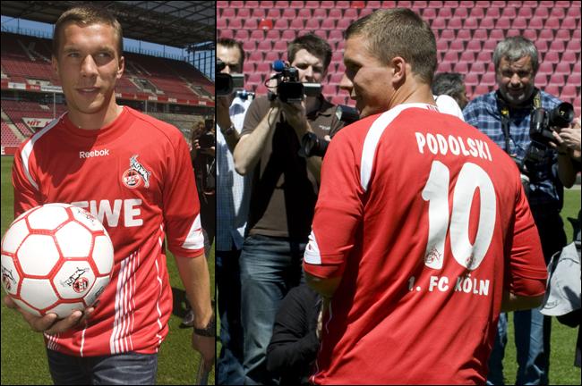 Podolski se apresenta no Colônia