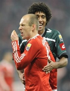 Robben e o brasileiro Dante