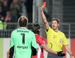 Jens Lehmann é expulso contra o Mainz