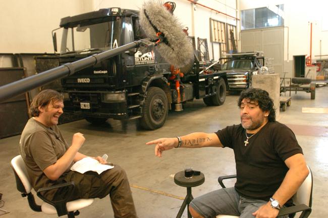 Maradona em sua melhor entrevista, a Kusturica (Divulgação)