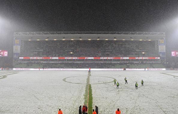 Stade Saint-Symphorien, no último sábado (foto publicada na fanpage da Ligue1 Brasil no Facebook)
