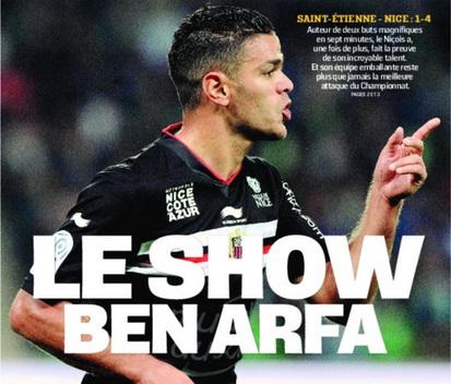 Ben Arfa na capa do último jornal L'Equipe