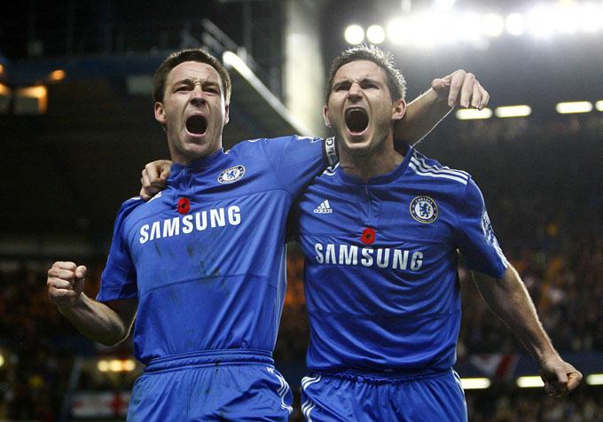 Terry e Lampard: mais líderes ainda (foto AP)