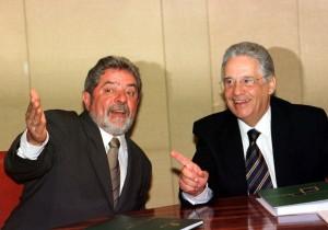 Lula e FHC, em 2002 (Foto: Agência Estado)