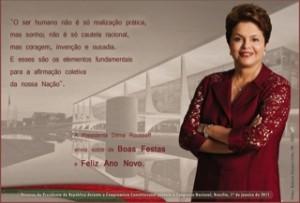 Cartão de Natal de Dilma (Foto Reprodução)
