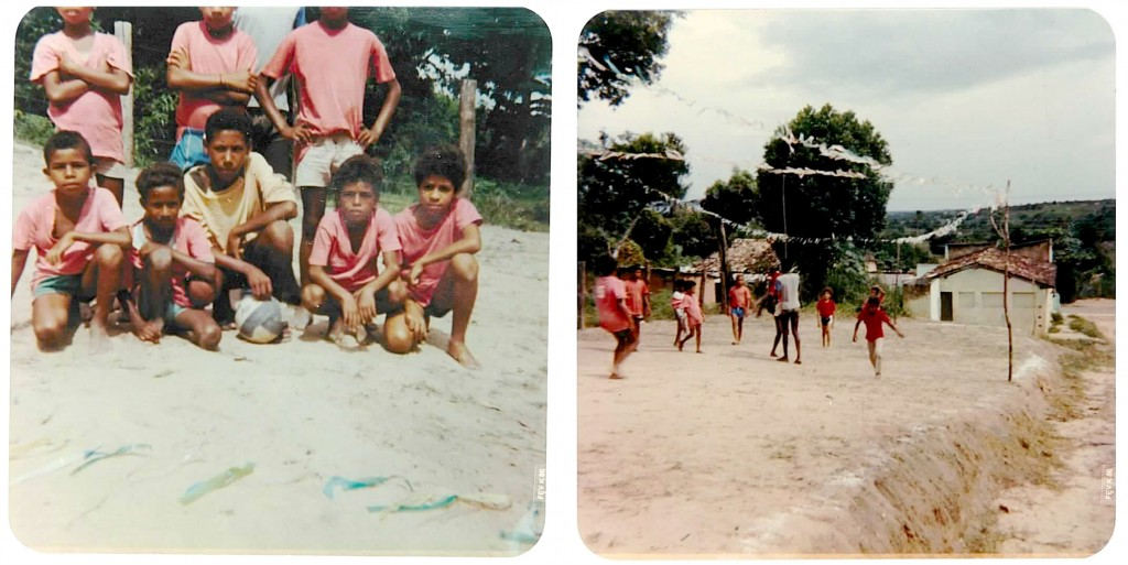 Eu, jogando futebol em Alagoinhas, Bahia. O enquadramento não era exatamente uma qualidade do fotógrafo!