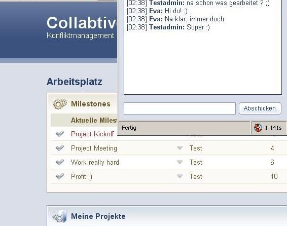 O gerenciador de projetos Collabtive
