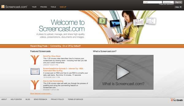 Screencast.com website