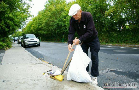 Limpando a rua