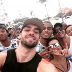 Lucão e Lucarelli curtiram o Bloco Pirraça no carnaval de Salvador
