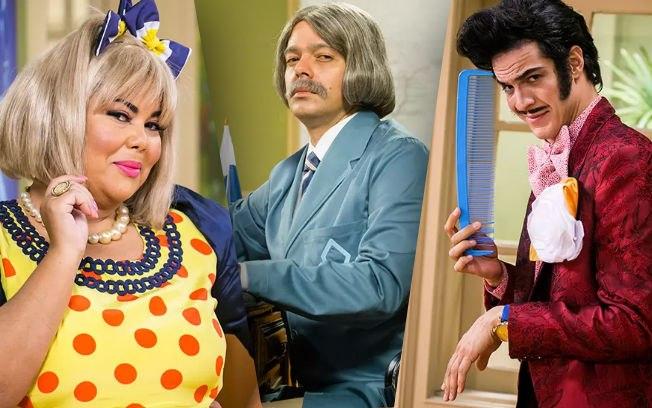 Fabiana Karla, Bruno Mazzeo e Mateus Solano revivem personagens clássicos do humorístico