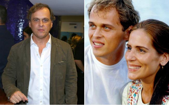 """Guilherme Fontes atualmente e em 1993, com Glória Pires em """"Mulheres de Areia"""""""