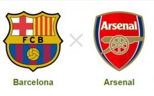 Barcelona X Arsenal é o jogo que a Globo exibirá à tarde