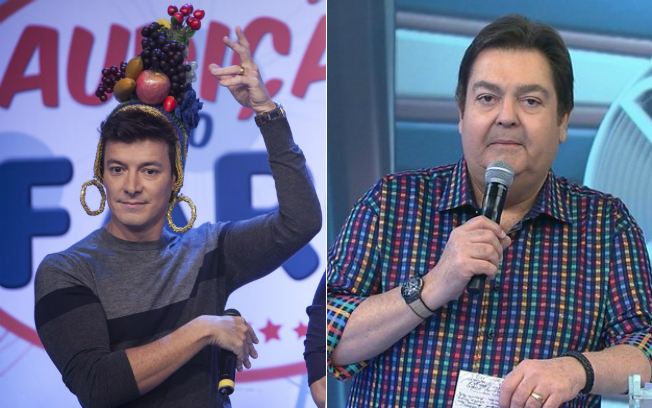 Rodrigo Faro comemora vitória sobre Faustão no horário em que os dois concorreram no domingo (27)