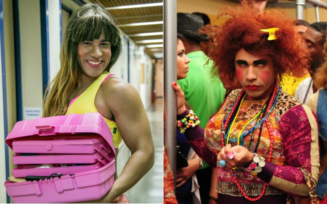 """Na pele de Carol Paixão, este ano, e de Valéria Vasquez, sua personagem no extinto """"Zorra Total"""""""