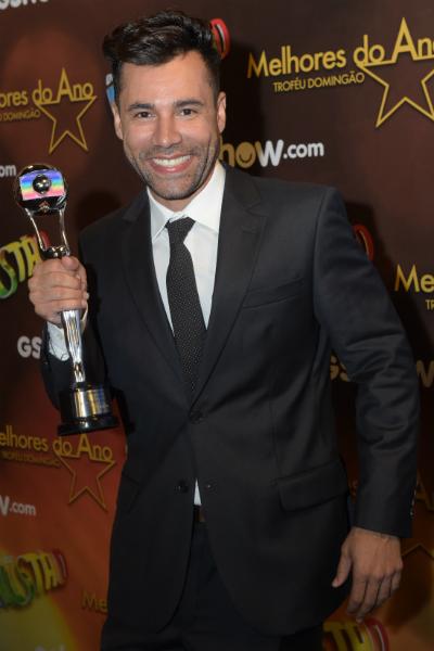"""Em 2015, o ator ganhou o troféu Melhores do Ano, do """"Domingão do Faustão"""""""