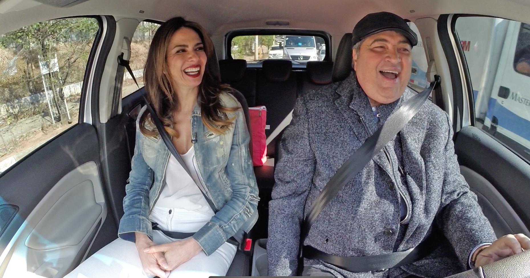 "Luciana Gimenez e José Luiz Datena na estreia do ""Bate & Volta"""