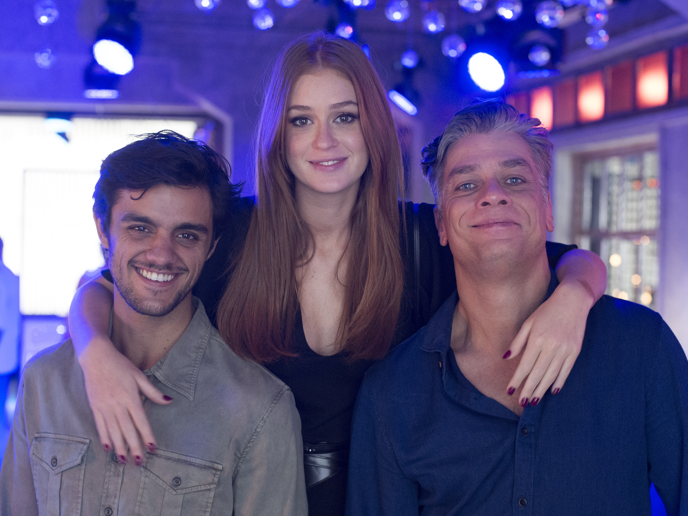 Felipe Simas, Marina Ruy Barbosa e Fábio Assunção foram o triângulo das 19h (Foto: Estevam Avellar/Globo)