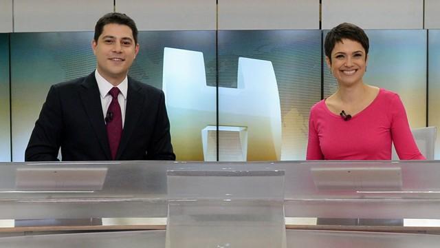 """Evaristo Costa e Sandra Annenberg, a dupla de apresentadores do """"Jornal Hoje"""""""