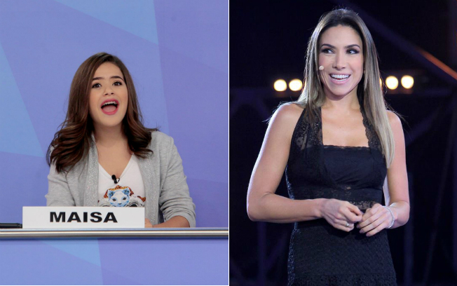 Maísa se senta no lugar de Patrícia Abravanel neste domingo (12) (Fotos: Lourival Ribeiro/SBT)