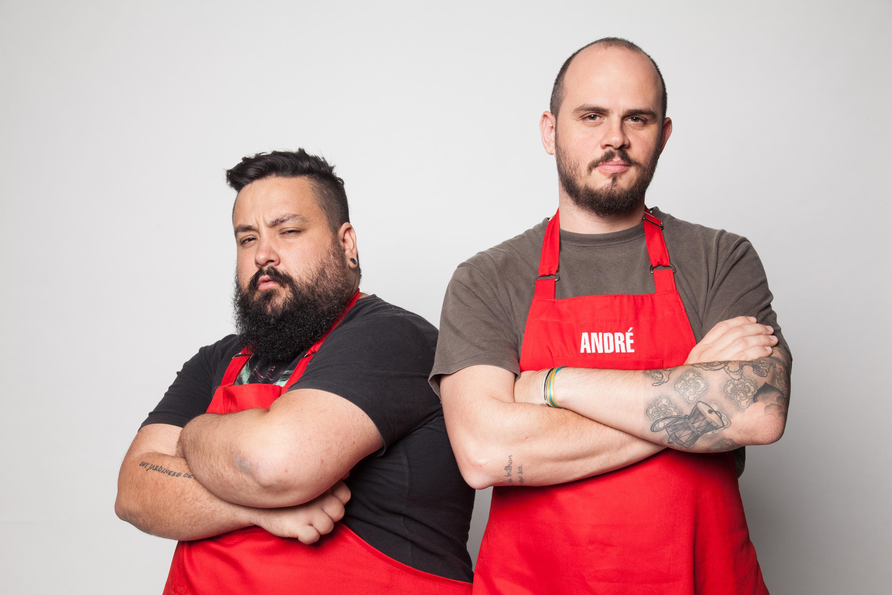 Os amigos gaúchos Adelino e André