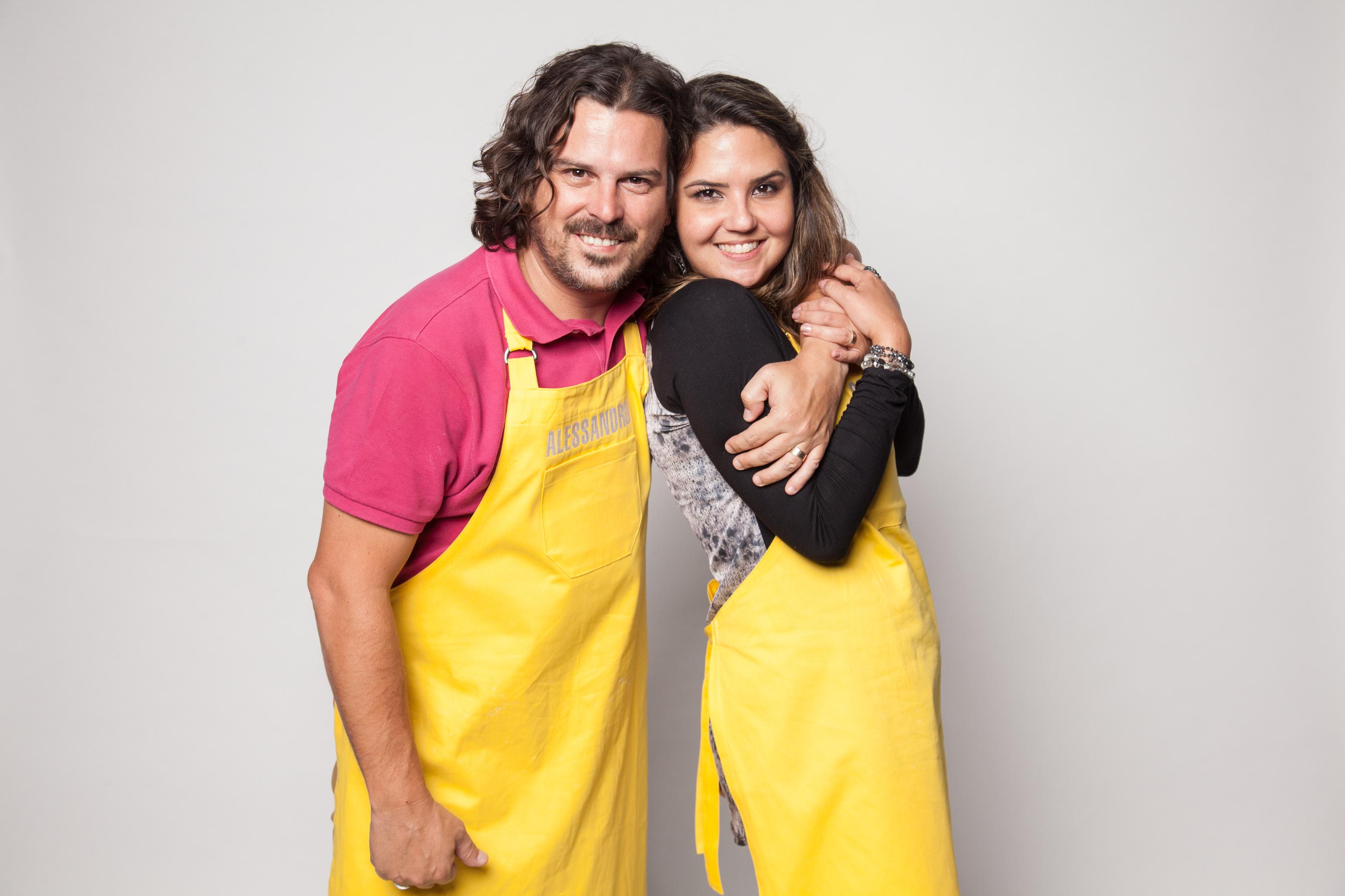 O casal Alessandro e Gercilane