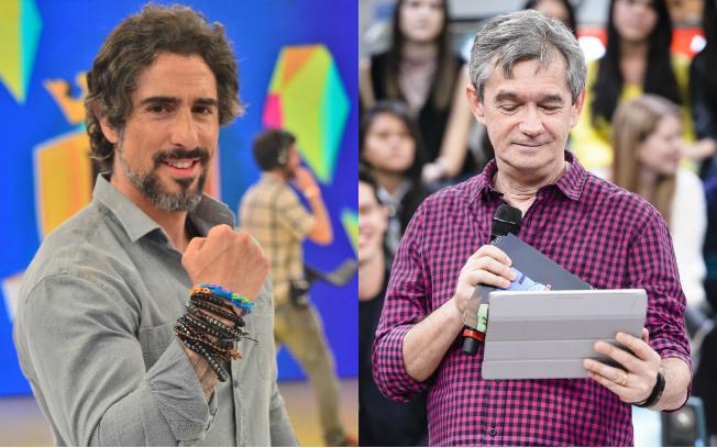 Marcos Mion e Serginho Groisman (Fotos: Antonio Chahestian/Record e Ramón Vasconcelos/Globo)