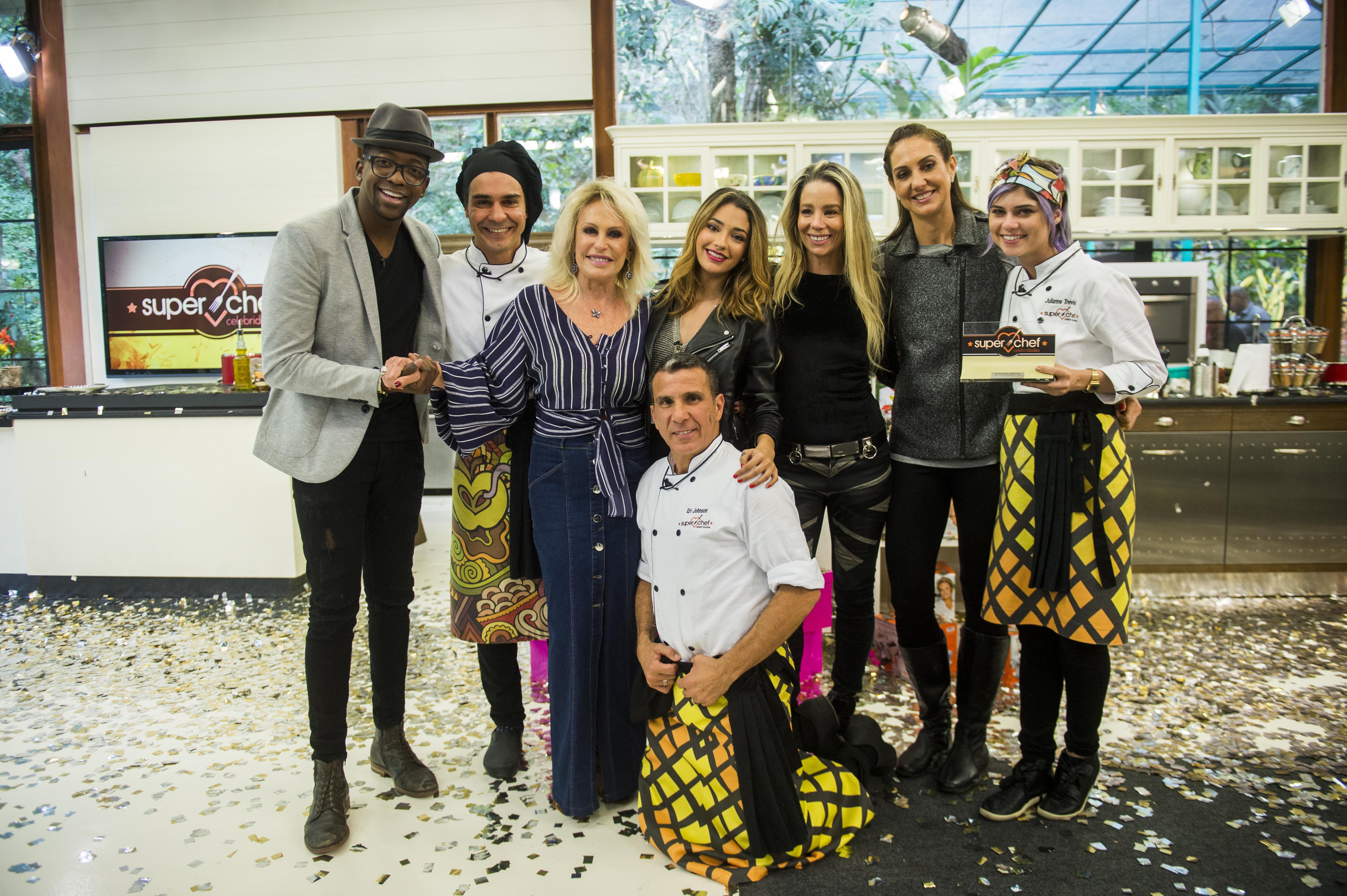 Ana Maria Braga e os participantes do Super Chef Celebridades (Fotos: João Miguel Jr/Globo)