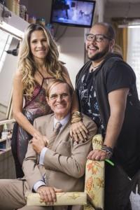 Marlene (Ingrid Guimarães), Deputado (Marcos Caruso) e Fran ( Tiago Abravanel)