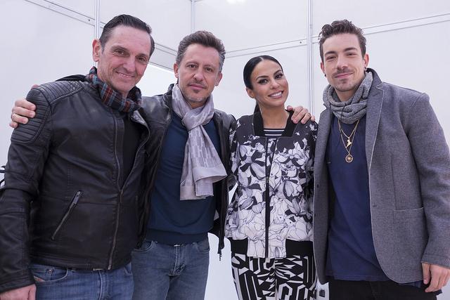 "Paulo Miklos, Rick Bonadio, Alinne Rosa e Di Ferrero, jurados do ""X Factor Brasil"" (Kelly Fuzaro/X Factor)"