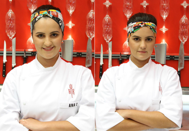 As gêmeas Ana Claudia e Ana Cristina tem 26 anos, sempre se vestem iguais e serão chamadas de Ana 1 e Ana 2. Cozinham juntas desde crianças e montaram um restaurante de cozinha japonesa