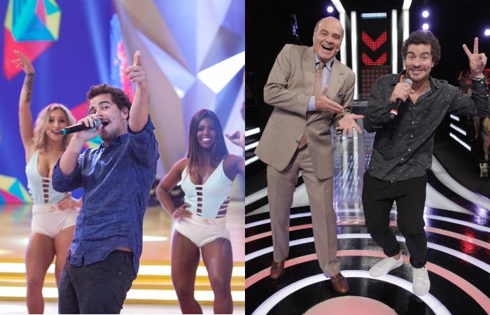 """Thiago Martins em dose dupla neste sábado (19): no """"Legendários""""e no """"Mega Senha"""" (Edu Moraes/Record e Artur Igrecias/ RedeTV!)"""