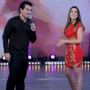 "O ator e cantor no ""Máquina da Fama"", no SBT (Lourival Ribeiro/SBT)"