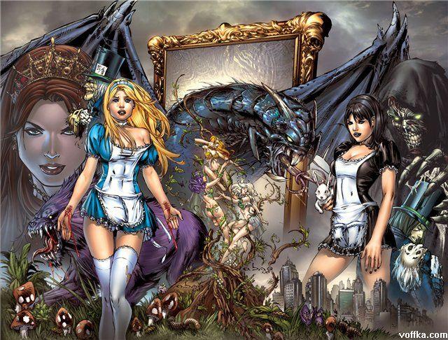 Alices in wonderland lesbian sex 10