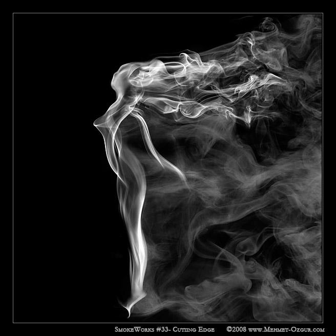 Arte com fumaça