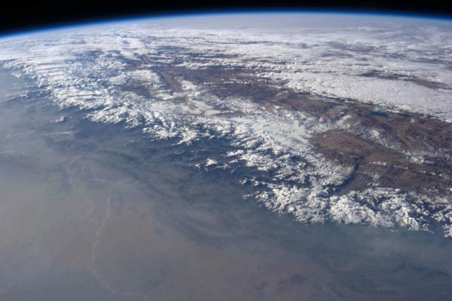 O Himalaia a partir do espaço.