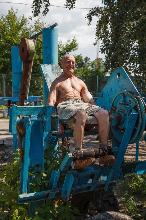 »Kachalka« - Fitnesscenter unter freiem Himmel in Kiew