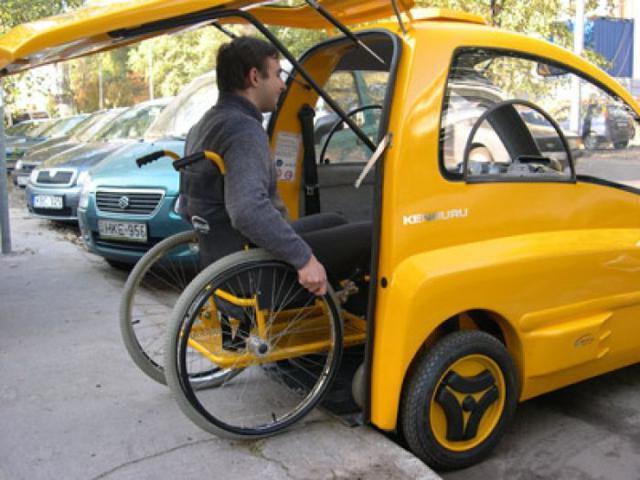 Um carro feito para pessoas com deficiência