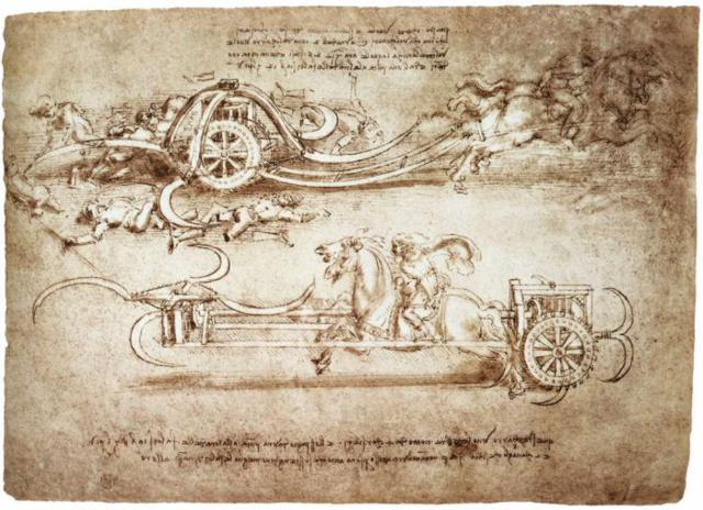 Máquina de matar desenhada por Leonardo DaVinci